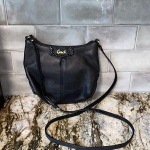 Coach Ashley Black Leather Crossbody Bag